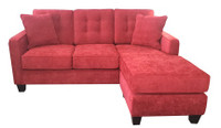 Yale Fabric Reversible Queen Sectional Sofa Bed