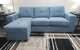 AVA Blue Sectional Sofa Reversible Chaise