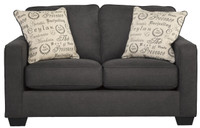 Perez Fabric Loveseat Charcoal