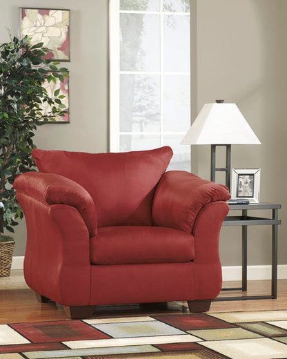Madison Fabric Chair Red