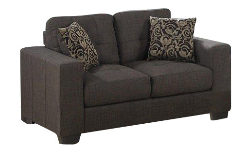 Lacey Grey Fabric loveseat