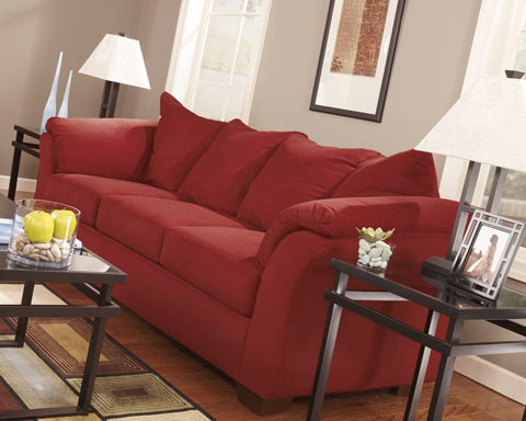 Madison Fabric Sofa Bed Red