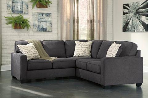 low priced 65742 3d264 Perez Fabric Corner Sofa Charcoal