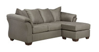 Madison Fabric Reversible Sectional Grey