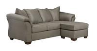 Madison Fabric Reversible Sectional Grey