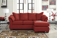 Madison Fabric Reversible Sectional Red