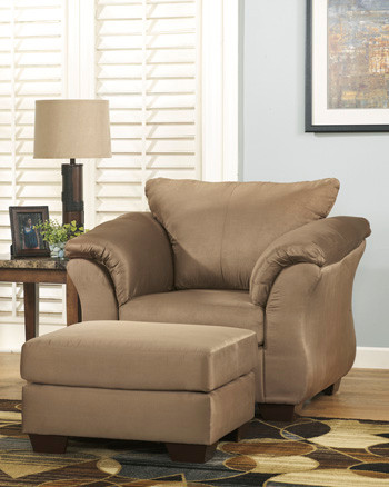 Madison Fabric Ottoman Mocha