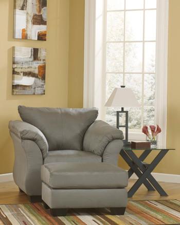 Madison Fabric Ottoman Grey