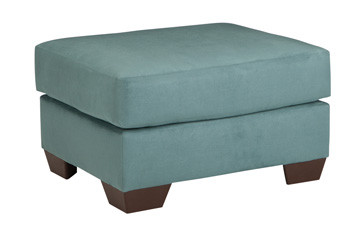 Madison Fabric Ottoman Sky