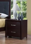 Fritz Two Drawer Nightstand Espresso