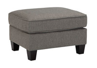 Hudson Fabric Ottoman Grey