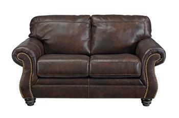 Darla Genuine Leather Loveseat Brown