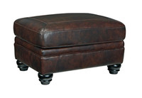 Darla Genuine Leather Ottoman Brown