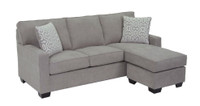 Rex Reversible Sectional Double Sofa Bed Grey