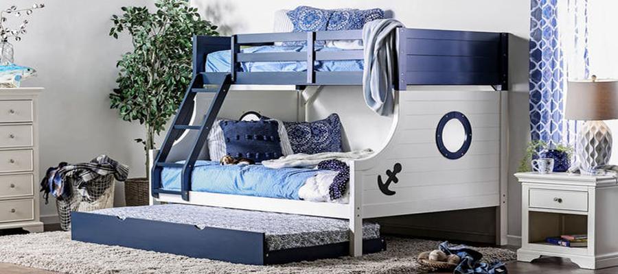 Nautical Twin Full Bunk Bed