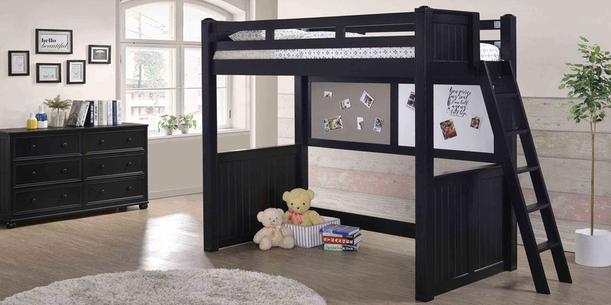 Black Loft Bed