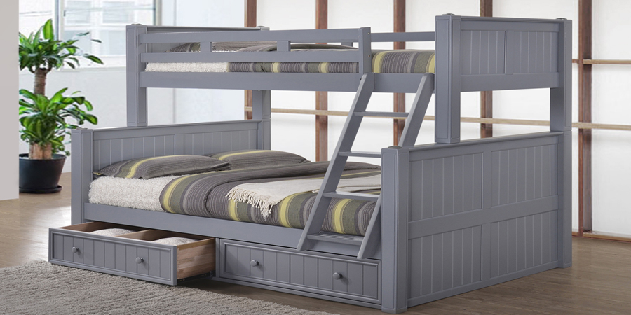 Extra Long Twin over Queen Bunk