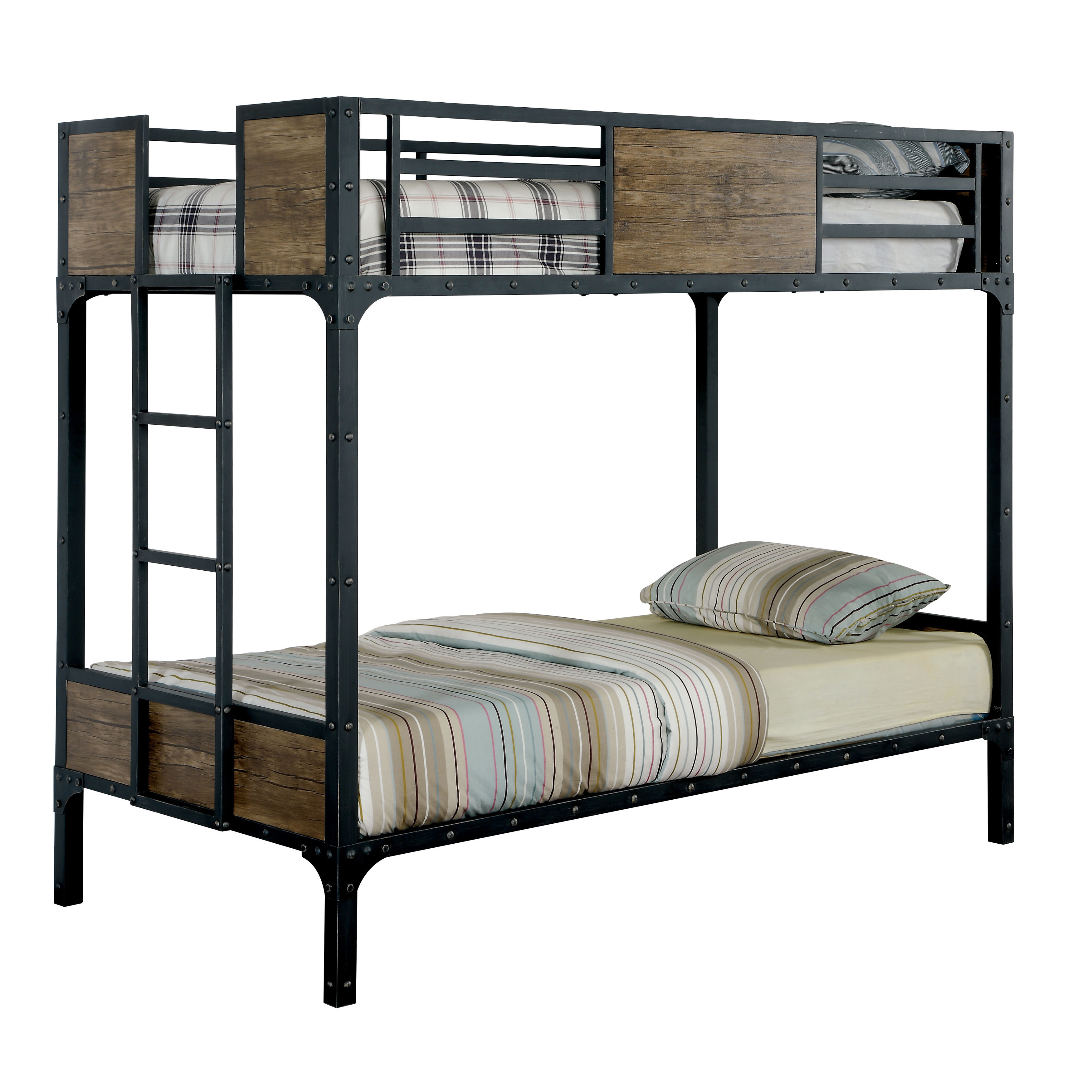 Industrial Style Metal Bunk Bed