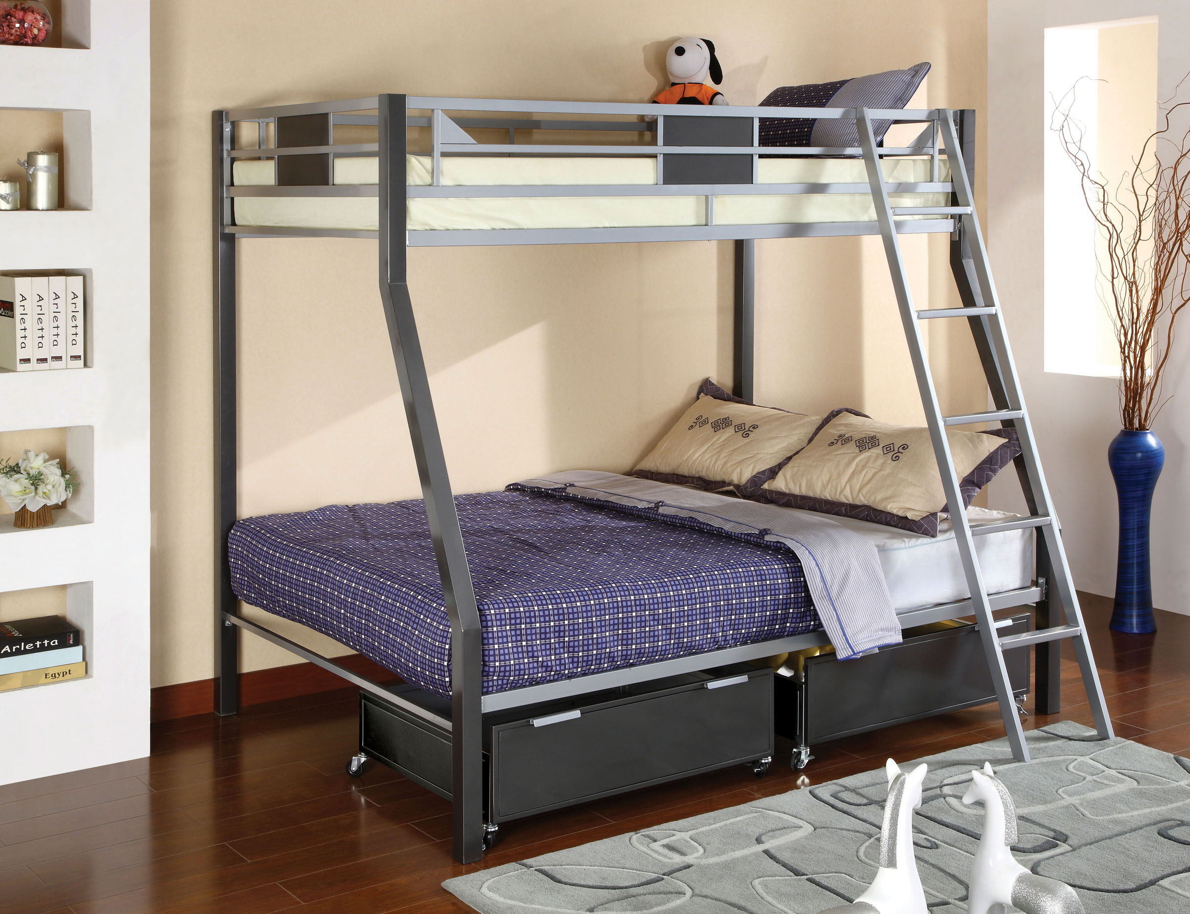 Cletis Metal Twin Full Bunk Bed
