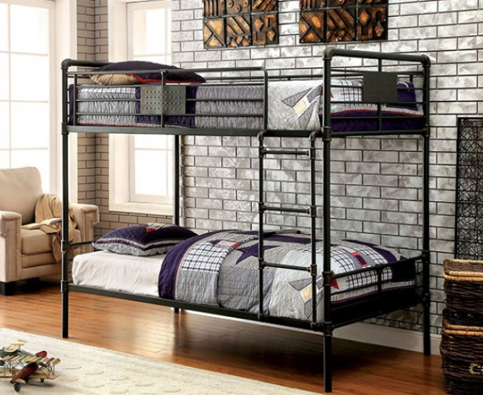 Industrial Piping Style Metal Bunk Bed