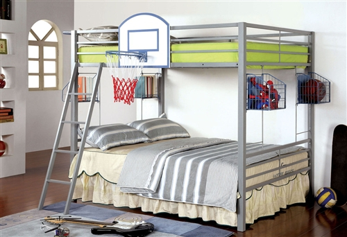 full size bunk bed in metal