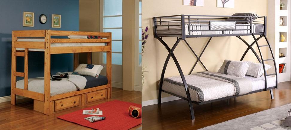 Wood + Metal Bunk Beds