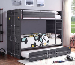 Freight Container Twin Bunk in Gunmetal
