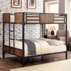 Furniture of America Industrial Wood Full Bunk Bed
