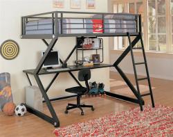 Austin Black Full Metal Workstation Student Loft