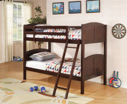 Convertible Bunk Bed in Cappuccino Finish