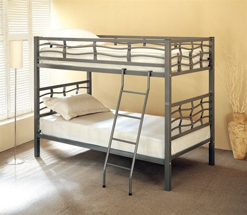 Dark Silver Twin Bunk Bed | Double Sleeper Bed