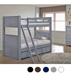 Convertible Twin Bunk Bed in Gray