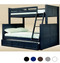 Dillon Twin Full Bunk Bed in Navy Blue