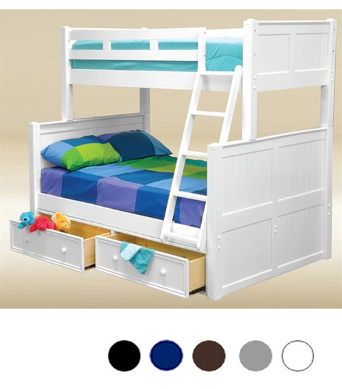Dillon Twin Full Bunk Bed with Drawers