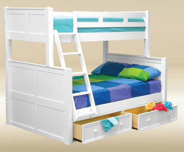 Twin Over Full Bunk Bed With Steps Storage Trundle