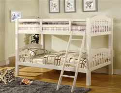 Owen White Bunk Bed with Curved Headboards