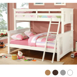 Levi Twin over Full Bunk in White Finish
