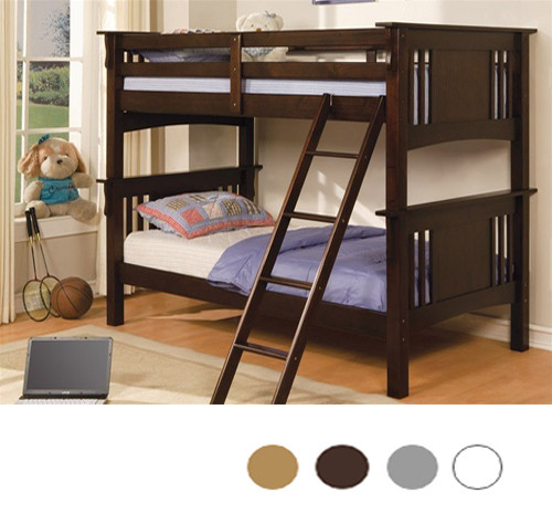 miami walnut twin bunk bed bunk beds for kids rh justbunkbeds com