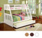 Richfield White Twin on top with Full on bottom  | Furniture of America CM-BK607WH