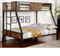 Furniture of America Industrial Metal Wood Twin Full Bunk Bed