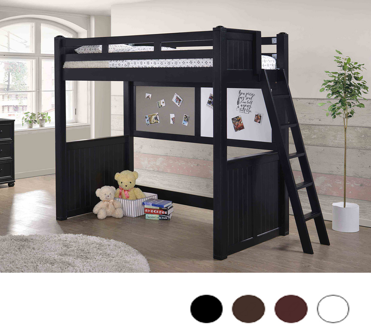 Twin Loft Bed With Desk Underneath Dillon Collection