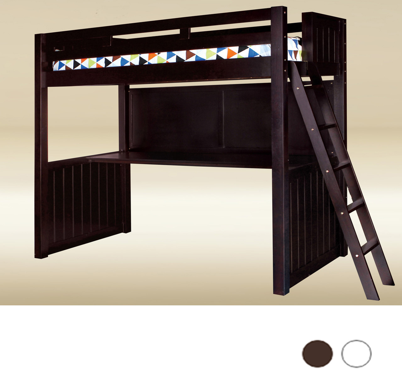 Newcastle Full Loft Bed With Desk Underneath
