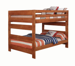 Amber Wash Wood Full Bunk Bed