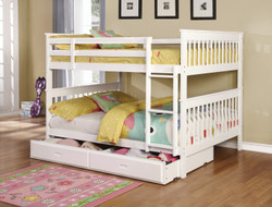 Katella Bunk in White with Optional Trundle