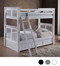 Gary XL Extra Long Twin Bunk Bed in White Shown with Trundle | Detachable XL Bunk Beds