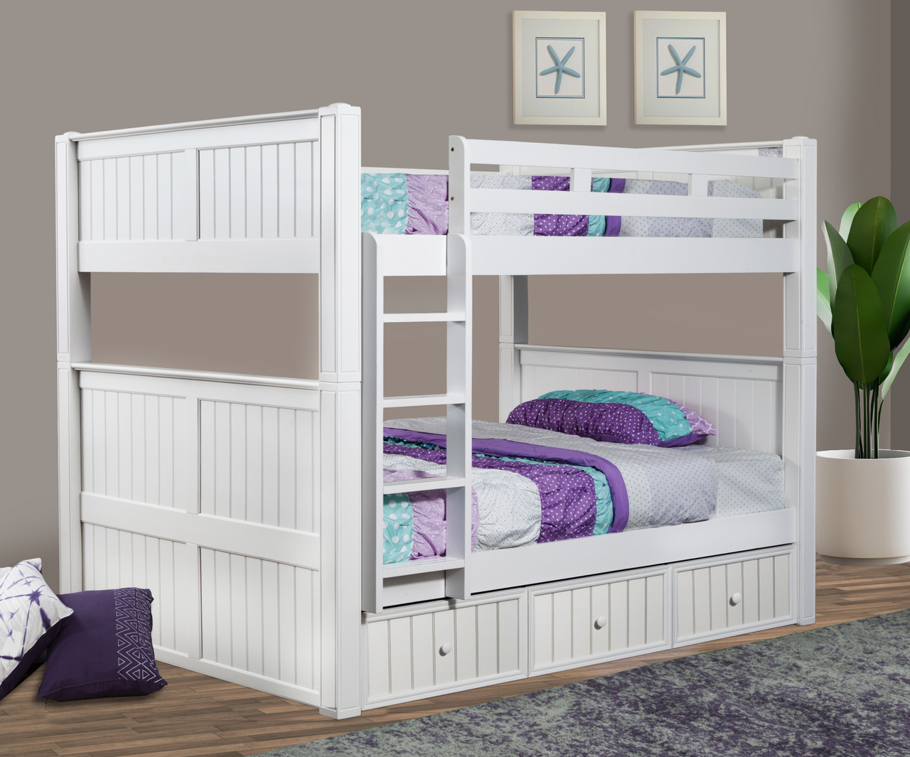 Dillon Queen Over Queen Bunk Bed With Storage And Trundle Reviews