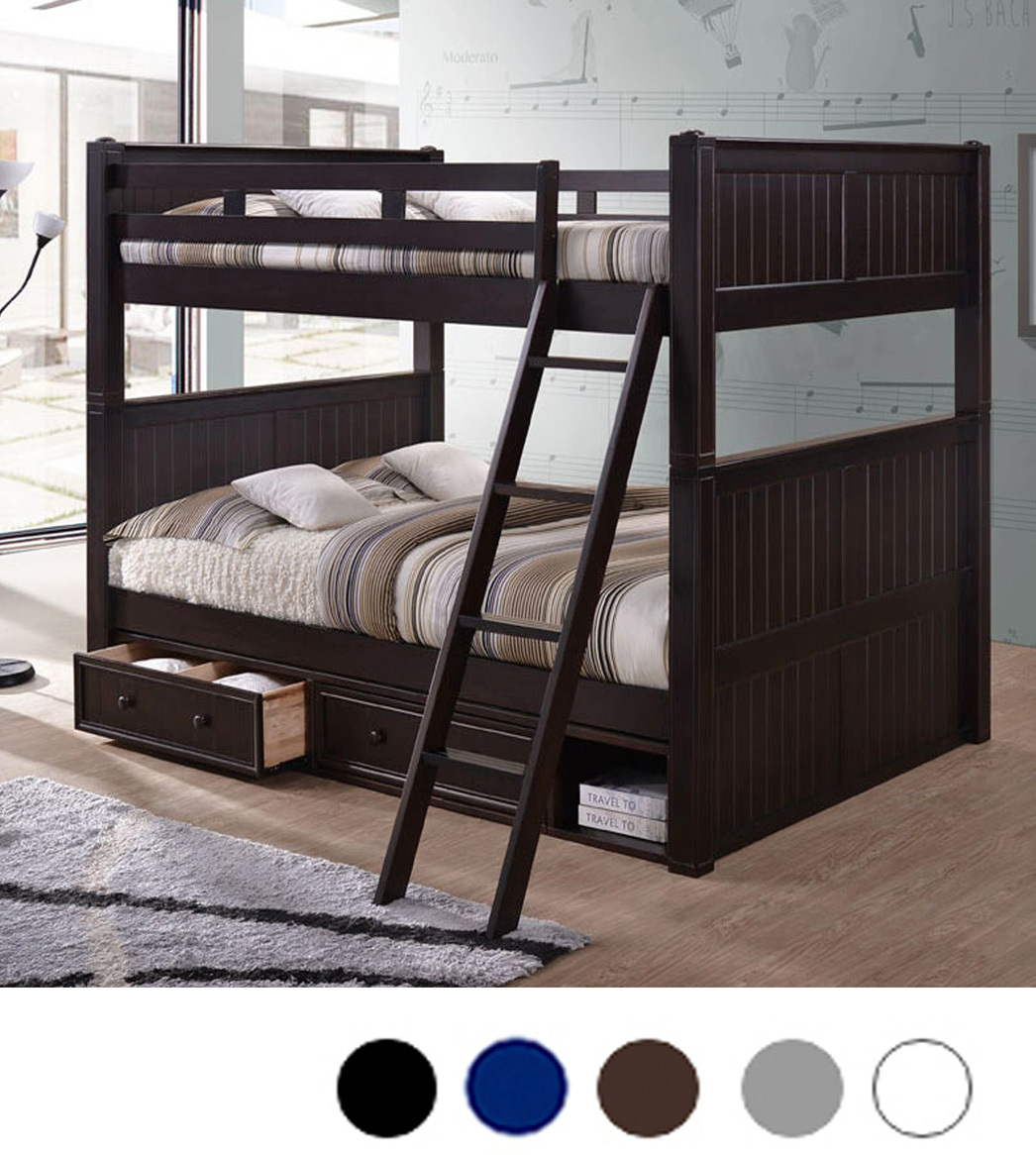 Queen Over Queen Dillon Bunk Bed W Trundle Storage Reviews