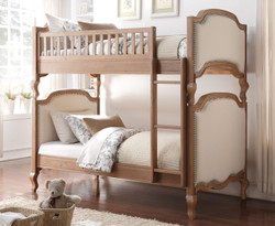 Kyla Salvaged Oak Cream Convertible Twin Bunk Bed
