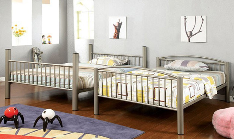 Convertible Full Size Metal Bunk Bed Tube Metal Double Bed