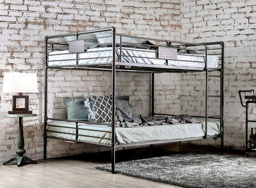 Industrial Piping Queen Bunk Bed